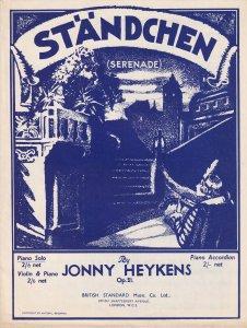 Jonny Heykens Violin Serenade Olde Sheet Music