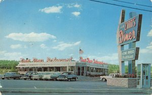 Thorndale  PA U.S.on Rt. 30  Zinn's Diner Old Cars Postcard