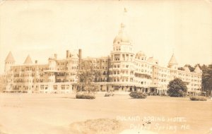 Real Photo Postcard Poland Spring Hotel in Poland Spring, Maine~110254