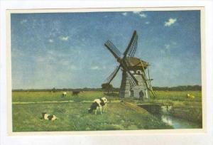 Landscape with water mill near Schiedam , Netherlands, 00-10s