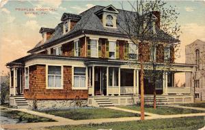 B34/ Sayre Pennsylvania Pa Postcard 1910 Peoples Hospital Building