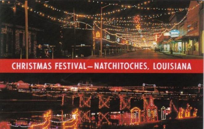 louisiana natchitoches christmas festival at night - Natchitoches Christmas Festival