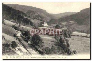 Old Postcard La Bourboule the Valley of La Bourboule and the Road Tour