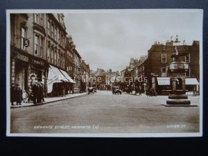 Northumberland MORPETH Newgate Street c1930 RP Postcard by Valentine 217188