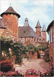 Postcard Modern Bas Limousin Collonges la Rouge (Correze) La Porte Plate and ...