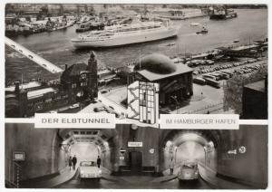 Germany; The Elbe Tunnel Below Hamburg Harbour RP PPC Unused, c 1960's