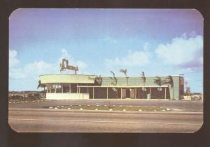 MIAMI BEACH FLORIDA CHARYS RESTAURANT VINTAGE ADVERTISING POSTCARD