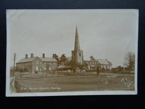 Derbyshire Long Eaton SAWLEY Parish Church c1916 Old RP Postcard