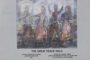 The Great Peace Walk Russia Soviet Leningrad Moscow Event Souvenir Postcard