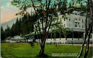 Vtg Tarjeta Postal - The Hotel - Sol Duc Hot Springs Clallam County Washington