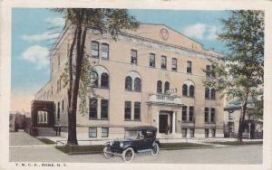 Old Car at YMCA - Rome NY, New York - pm 1930 - WB