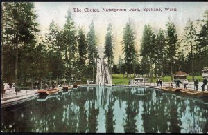 Washington SPOKANE The Chutes, Natatorium Park - Divided Back