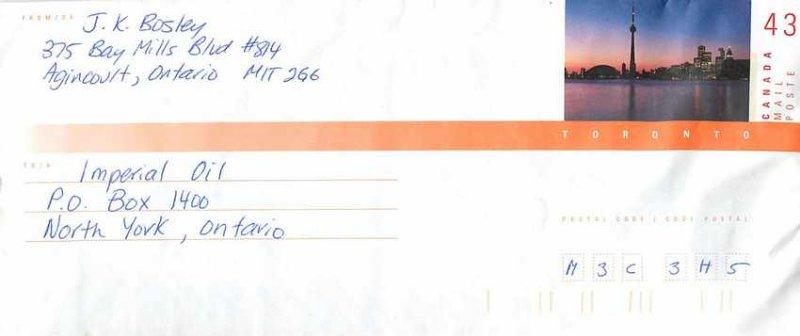 Entier Postal Stationery Postal Canada