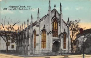 Charleston South Carolina~Huguenot Church~Old Bare Trees~c1910 Postcard