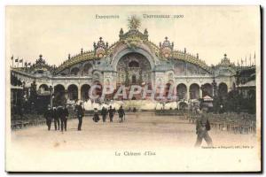 Old Postcard Chateau d & # 1900 Paris Universal Exposition 39eau