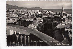 Italy, Italia, Genoa, Genova, Panorama verso levante, unused real photo Postcard