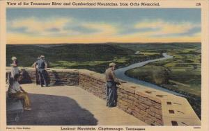 View Of The Tennessee River And Cumberland Mountains From Ochs Memorial Looko...