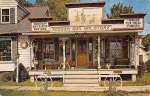 Ashland Ohio~Possum Run General Store~Sorghum~Grits~1950s Postcard