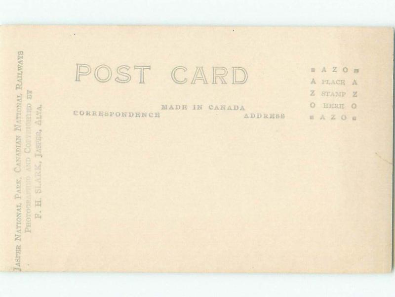Pre-1949 rppc NICE VIEW Jasper Alberta AB W1063