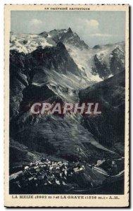 Old Postcard Meije and La Grave