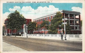 H76/ Wilmington Delaware Postcard c1937 Hospital anmd Nurses Home 104