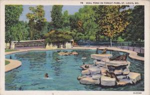 Seal Pond In Forest Park Saint Louis Missouri 1934