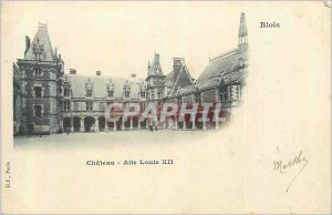 Old Postcard Blois Chateau Louis XII Wing (map 1900)