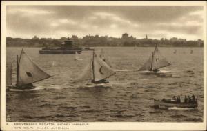 Sailing Yachting Regatta Sydney Australia TUCK c1915 Postcard