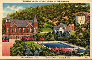 Texas Mineral Wells East Mountain Baker Garden Methodist Church 1942
