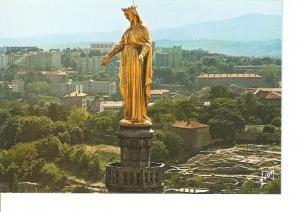 Postal 022228 : Lyon- fourviere (Rh?e). La Vierge doree et les The?res antiques