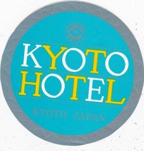 Japan Kyoto Hotel Vintage Luggage Label sk3947