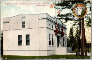 1909 AYPE Seattle World's Fair Expo Postcard EMERGENCY HOSPITAL Building View