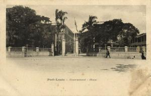 mauritius, PORT-LOUIS, Governement House (1899)
