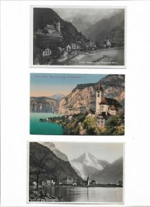 Switzerland - Flüelen Postcard Lot of 8 01.11