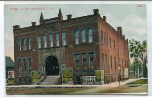 Opera House Theater Cherokee Iowa advertising Moss Co 1909 postcard