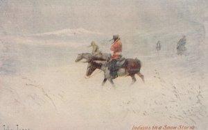 Indians in a Snow storm , Artist John Innes , 1906
