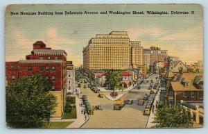 Postcard DE Wilmington Delaware New Nemours Building Washington Street Views X5