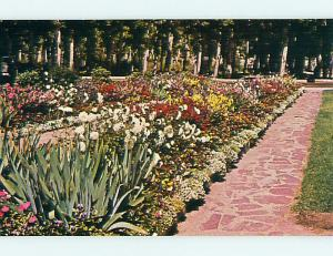 Unused Pre-1980 FLOWER BEDS & PARK SCENE Anaconda Montana MT r8525-12