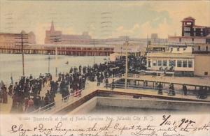 New Jersey Atlantic City The Boardwalk At Foot Of North Carolina Avenue 1905 ...