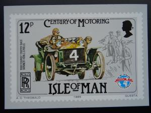 Isle of Man 1906 TOURIST TROPHY ROLLS ROYCE Century of Motoring c1980's Postcard