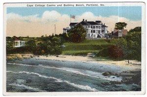 Portland, Me., Cape Cottage Casino and Bathing Beach