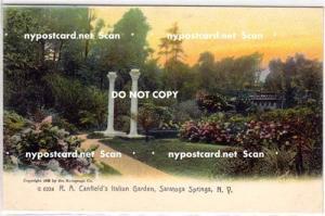 Italian Garden, Saratoga Springs NY,
