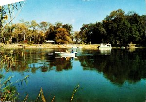 Shakawe Fishing Camp Okavango River Botswana Postcard used 1973