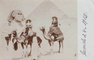 RP: Tourist on Camels at SPHINX , Egypt , 00-10s
