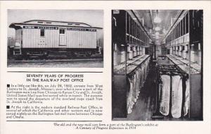 70 Years Of Progress In Railway Post Office 1934 Century Of Progress