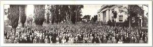 Long Beach, CA Folding Postcard TAUBMAN MEN'S BIBLE CLASS 2-Panel Group Picture