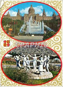 Postcard Modern Open Stupa with Buddha at Borobudur Inside Central Java Indon...