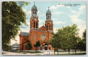 Green Bay Wisconsin~St Francis Xavier Cathedral~Catholic Church~Home~c1910