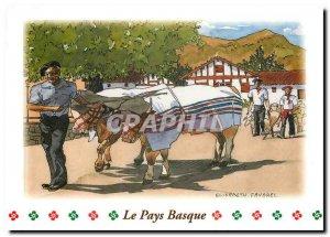 Modern Postcard The Basque Country Watercolor Elisabeth Favorel