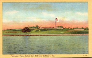 Maryland Baltimore Fort McHenry Panoramic View Curteich